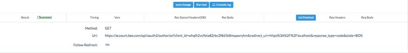 Run Box get authorization code API
